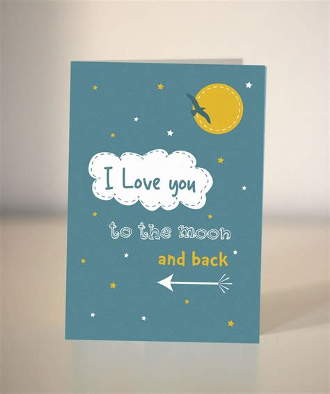 to the moon and back valentines day card template you to the moon and back card s card