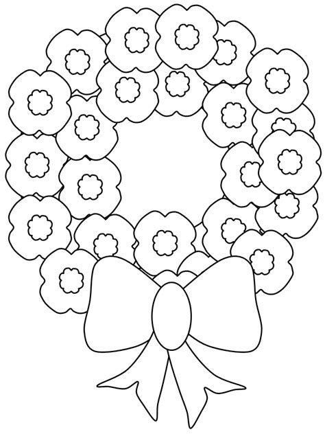 anzac day poppies coloring pages