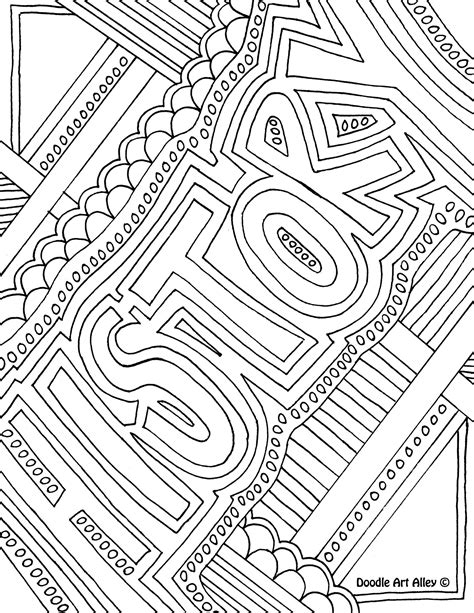 school subject coloring page history notebook cover page