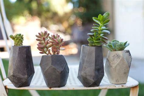 geometric concrete succulent cacti planter by