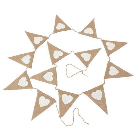 wedding banner patterns 2 8m triangle pattern hessian burlap fabric rustic