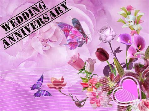 Purple Happy Wedding Anniversary Message   Marriage
