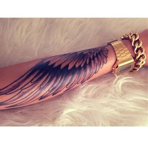 angel wing tattoos for men on arm wings arm sleeve gold rozaap