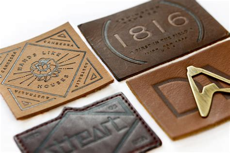Modern Trim custom leather patches and labels by cbf labels