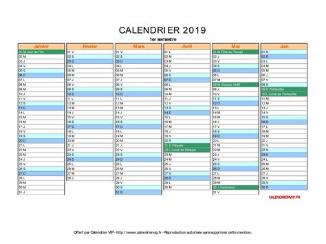 Calendrier 2019 Et 2020 Xls Format