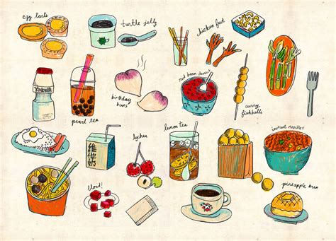 Kitchen Walls Decorating Ideas by Hong Kong Local Foods Poster Appetite For China