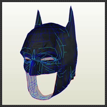 How To Make Paper Batman Mask - papercraftsquare new paper craft dc comics