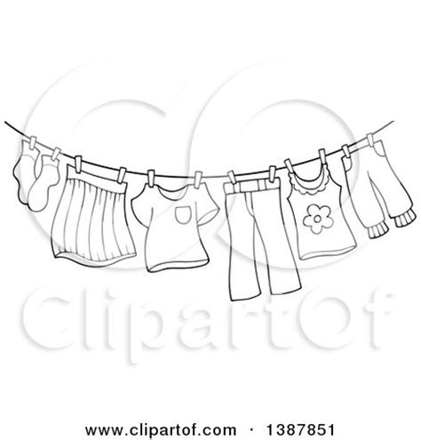 Washing Line Outline by Royalty Free Stock Illustrations Of Clothes By Visekart Page 1