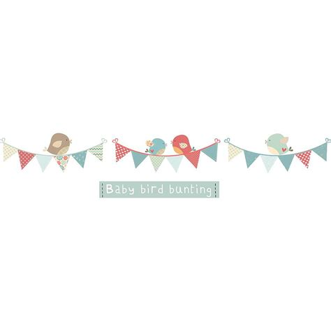 bunting wall stickers bird bunting fabric wall stickers by littleprints notonthehighstreet