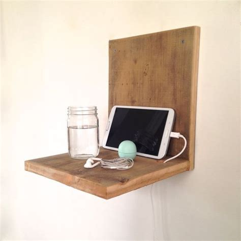 reclaimed wood wall table wall mounted nightstand reclaimed wood nightstand
