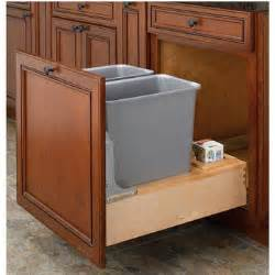 pull out built in trash cans cabinet slide out