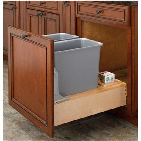 trash can roll out for cabinets pull out built in trash cans cabinet slide out
