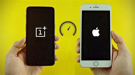 iphone 8 plus vs oneplus 5 8gb ram speed test 4k