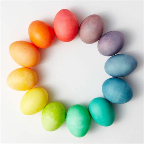 color easter eggs easter egg dyeing color wheels martha stewart