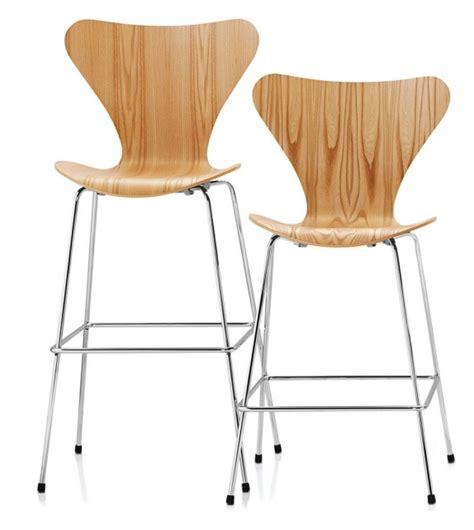 Arne Jacobsen Counter Stool by Series 7 Counter Stool Sgabello Fritz Hansen Milia Shop
