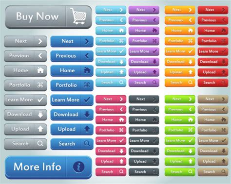 Free Website To Search For Button Collection Buy Upload Search Button Vector Icons Web