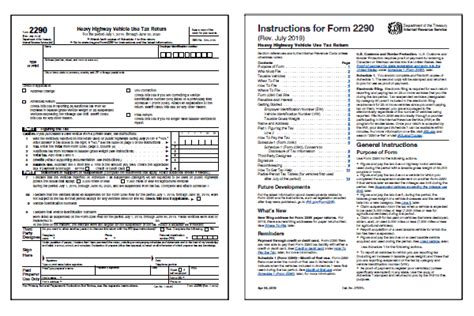 form  heavy highway vehicle  tax return