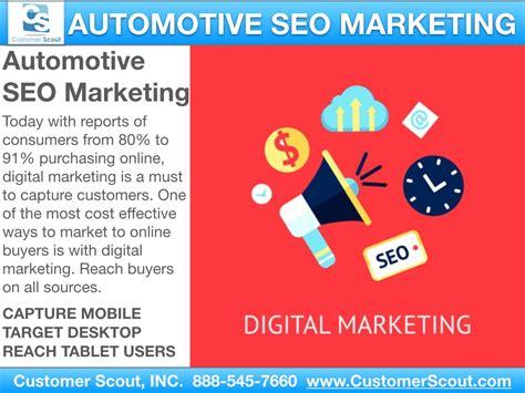 Seo Digital Marketing by 5 To Automotive Seo Customer Scout
