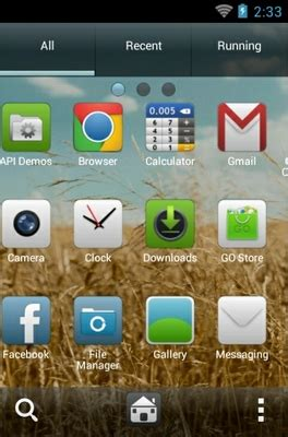 golden themes for android golden field android theme for go launcher androidlooks com