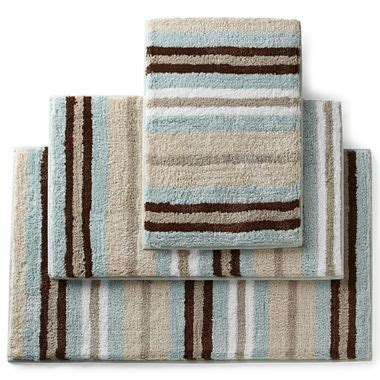 jc penney bathroom rugs royal velvet 174 memory foam stripe bath rugs jcpenney for the home royals rugs