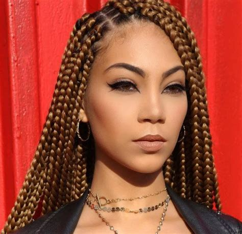 Boxed Braids Hairstyles by 25 Best Box Braids Ideas On Box Braid Black