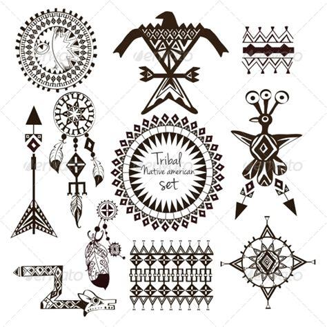 sioux tribal tattoos tribal american set decorative symbols decorative