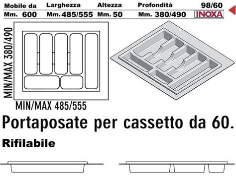 portaposate da cassetto 60 cm portaposate cucina incasso in pvc grigio rifilabile per