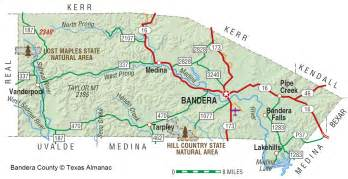 map of bandera bandera county the handbook of state