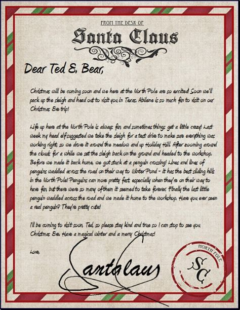 personalized letters from santa official pole mail personalized letters from santa