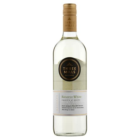 Three Mills Reserve White Wine 75cl   Alcohol, Wine