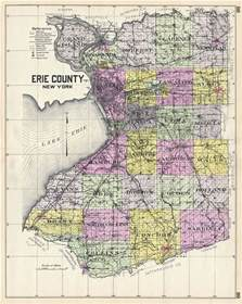 erie county new york geographicus antique maps