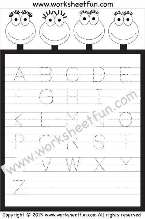 tracing uppercase letters capital letters 3 letter tracing worksheet capital letters free