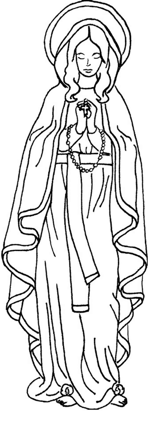 free coloring pages virgin mary realistic virgin mary coloring pages