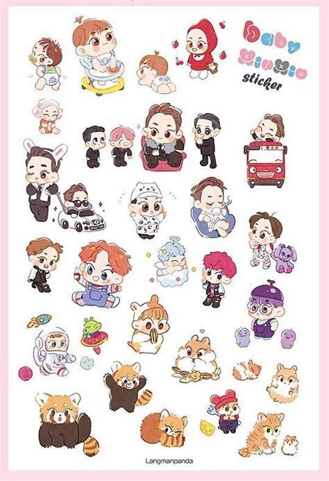 Sum Exo Kokobop Sticker Set 122 best exo fanart stickers images on decals