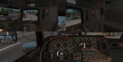 peterbilt 389 scs light brown interior mod ats mod