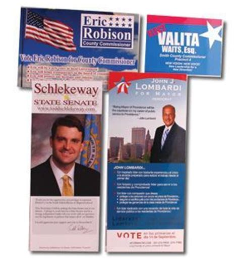 Political Push Cards Template by Palm Cards And Push Cards To Get Your Political Caign