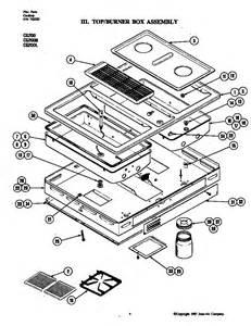 jenn air gas cooktop assembly parts model cg200