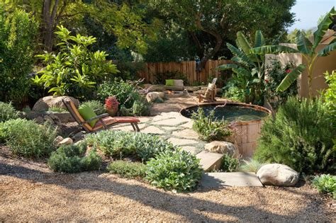 rustic backyard designs san roque get a way rustic landscape santa barbara