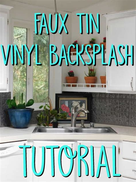 faux tin kitchen backsplash faux tin kitchen backsplash tutorial crafty gnome