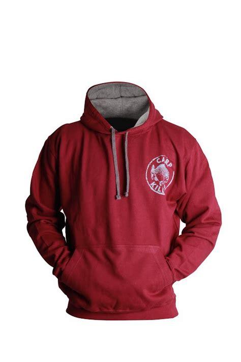 Hoodie Killers carp killers hoodie burgundy grau pullover mit kapuze