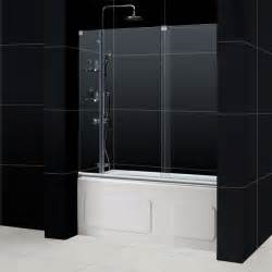 shower door on bathtub mirage frameless sliding shower door dreamline bathroom
