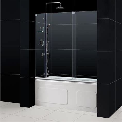 frameless sliding glass bathtub doors mirage frameless sliding shower door dreamline bathroom