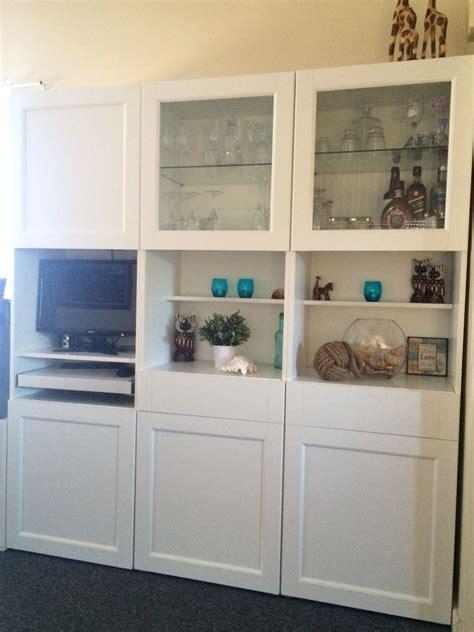 besta vassbo cabinet ikea besta vassbo white display cabinet with computer nook