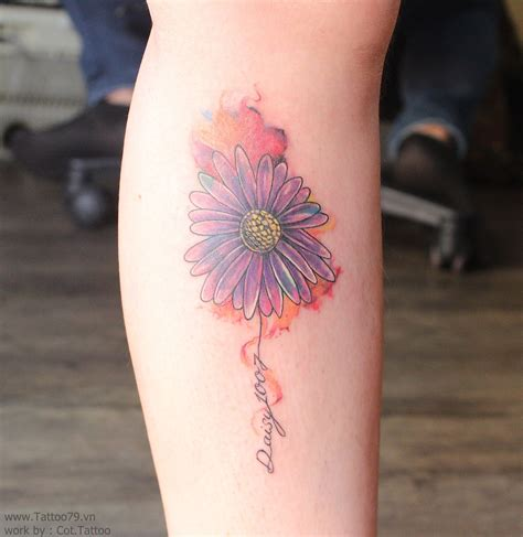 watercolor daisy tattoo watercolor flower by tattoo79 work by