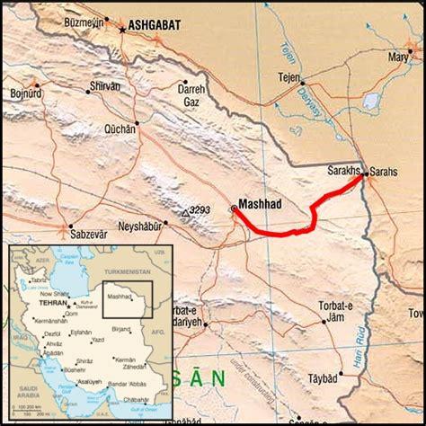 mashhad map map mashhad to sarakhs travellingtwo bicycle touring