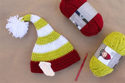 printable elf hat with ears free crochet pattern for baby elf hat dancox for