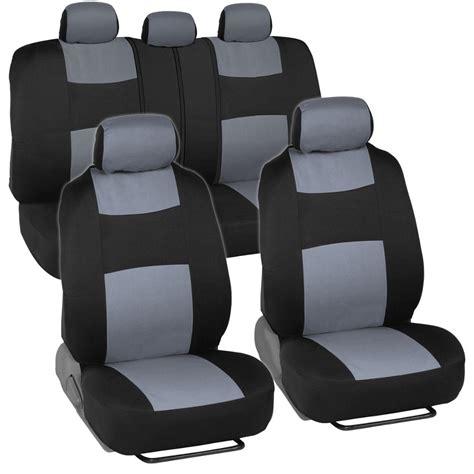split bench seat covers car seat covers for honda civic sedan coupe grey black split bench ebay