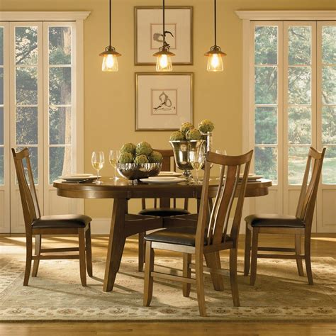 tiburon 5 pc dining table set tiburon wood dining table and chairs by powell