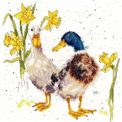 6 best images of printable counted cross stitch patterns bothy threads daffs and ducks counted cross stitch kit