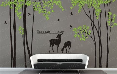 nature house wall decals nature wall decals by annaandnana on etsy